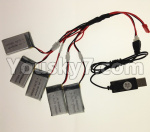 XK X130-T.0021-04 Spare Parts USB Charger wire & Upgrade 1-to-5 Conversion wire((Not include the 5 battery)