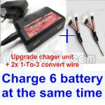 XK X251 Drone Parts-17 Upgrade charger and balance chager & 2pcs 1-To-3 convert wire-Total can charge 6x battery and the same time