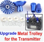 XK X251 Drone Parts-27 Upgrade Metal Trolley for the Transmitter-Blue(Can be used for XK X251 K100 K110 K120 K123 K124 X350 X380)