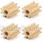 XK X260 Spare parts-08-04 X260-14 Small Copper Gear for the Motor(4pcs)