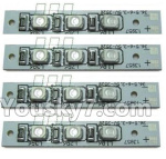 XK X260 Spare parts-14-02 X260-14 Gree light board(4pcs)