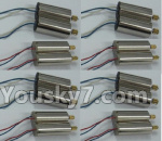 XK X260 Spare parts-15-01 Rotating Motor with red and Blue wire(8pcs) & Reversing-rotating Motor with Blue and white wire(8pcs)