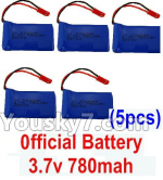 XK X260 Spare parts-20-02 X260-20 Unofficial 3.7v 780mah 20c Battery(5pcs)