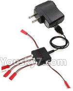 XK X260 Spare parts-21-02 Upgrade 1-to-5 charger with balance charger & USB-to-Socket Conversion plug