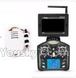 XK X260 Spare parts-25-02 Transmitte & FPV Display with Antena & 5.8G HD Camera unit