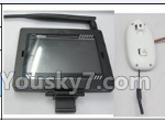 XK X260 Spare parts-25-03 FPV Display with Antena & 5.8G HD Camera unit
