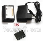 XK X300 Spare parts-17-05 Charger and Balance charger(With US Version Plug)