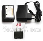XK X300 Spare parts-17-07 Charger and Balance charger(With AU Version Plug)