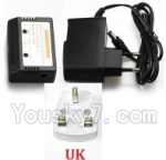 XK X300 Spare parts-17-08 Charger and Balance charger(With UK Version Plug)