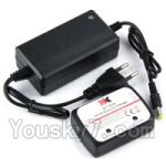 XK X350-Parts-21 Official Charger and balance charger Set-Can charge one battery at the same time