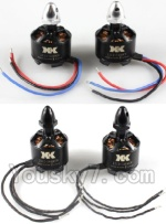 XK X350-Parts-31 2212 1400KV Brushless CCW Motor(With Black Head)-2pcs & 2212 1400KV Brushless CW Motor(With Silver Head)-2pcs