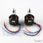 XK X350-Parts-33 2212 1400KV Brushless CW Motor(With Silver Head)-2pcs