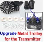 XK X350-Parts-46 Upgrade Metal Trolley for the Transmitter-Black(Can be used for XK K100 K110 K120 K123 K124 X350 X380)