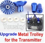 XK X350-Parts-47 Upgrade Metal Trolley for the Transmitter-Blue(Can be used for XK K100 K110 K120 K123 K124 X350 X380)