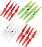 Wltoys XK Detect X380 Parts-06 Upgrade Propellers,Main rotor blades(4x Green,8X Red,4X White)-(Total 10X CW,10X CCW)