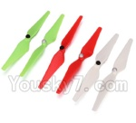 Wltoys XK Detect X380 Parts-07 Upgrade Propellers,Main rotor blades(2x Green,2X Red,2X White)-(Total 3X CW,3X CCW)
