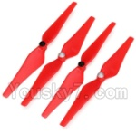 Wltoys XK Detect X380 Parts-08 Upgrade Propellers,Main rotor blades(Red)-(Total 2X CW,2X CCW)