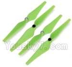 Wltoys XK Detect X380 Parts-09 Upgrade Propellers,Main rotor blades(Green)-(Total 2X CW,2X CCW)