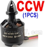 Wltoys XK Detect X380 Parts-19 2212 KV 950 Reversing-rotating Brushless Motor(CCW)-1pcs