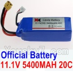 Wltoys XK Detect X380 Parts-23 Official 11.1V 5400MAH 20C Battery(1pcs)