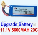 Wltoys XK Detect X380 Parts-24 Upgrade 11.1V 5600MAH 20C Battery