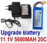 Wltoys XK Detect X380 Parts-25 Upgrade 11.1V 5600MAH 20C Battery & Charger and Balance charger