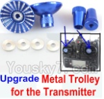 Wltoys XK Detect X380 Parts-43 Upgrade Metal Trolley for the Transmitter-Blue(Can be used for XK X251 K100 K110 K120 K123 K124 X350 X380)