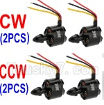 XK Aircam X500 Quadcopter Parts-017-02 clockwise Rotating Brushless Motor(CW)-2pcs & counterclockwise Reversing-rotating Brushless Motor(CCW)-2pcs