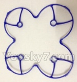 XinXun-X40-X40V parts-07 Outer protect frame-Blue