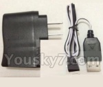 XinXun-X40-X40V parts-21 Straight conversion plug & USB Charger