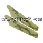 YD-918-helicopter-parts-04 Lower Main Blades(Green-2pcs)