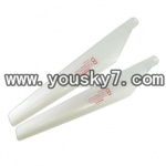 YD-9801-parts-04 Lower main blades(2pcs)