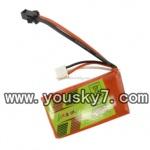 YD-9801-parts-14 7.4V, 800 mAh Lipo Battery