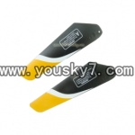 YD-9808-helicopter-parts-07 Upper Main Blade(Yellow)-2A