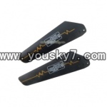 YD-9808-helicopter-parts-09 Lower Main Blade(Black)-2B