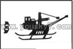 YD-9815-helicopter-parts-02 Landing skid