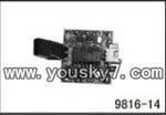 YD-9816-helicopter-parts-14 PCB board,Receiver board