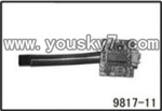 YD-9817-helicopter-parts-14 PCB board,Receiver board