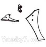 Double horse 9130 Parts-17 Horizontal and verticall wing with fixtures