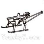 Double horse 9130 Parts-19 Main body frame