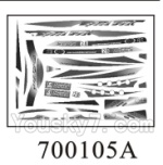 Double-horse-7001-04 Stickers A for the boat shell cover