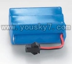 7009-parts-01 Battery with Black plug(7.2v 650mah)-The old version of black SM jack