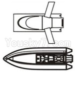 Shuang Ma 7013 parts-01 Upper canopy,Upper shell cover & Bottom boat shell cover