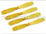 Double-horse-9128-03 Main blades(4pcs-Yellow)