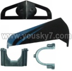 S908-parts-37 Horizontal and verticall wing with fixtures-Blue